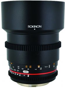 5fcd5f12fa4c Rokinon CV85M-N 85mm t 1.5 Aspherical Lens for Nikon with De-Clicked  Aperture and Follow Focus Compatibility Fixed Lens