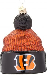 Old World Christmas Cincinnati Bengals Beanie Glass Blown Ornament 1b2593009