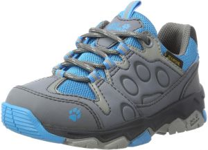 e5cf9ecad2 Jack Wolfskin Unisex-Kids MTN Attack 2 Texapore Low K Hiking Boot, ICY Lake  Blue, 4.5 M US Big Kid