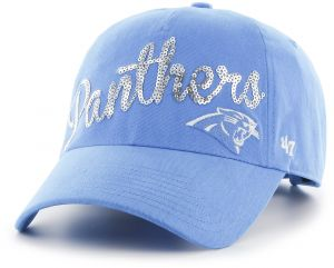 quality design eb8b0 18eab  47 NFL Carolina Panthers Women s Sparkle Script Clean Up Hat, Women s,  Black