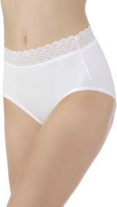 faf41df0cc Vanity Fair Women s Flattering Lace Cotton Stretch Brief Panty 13396