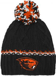 e4408e53246 NCAA by Outerstuff NCAA Oregon State Beavers Youth Girls Cable Knit  Cuffless Hat w  Pom