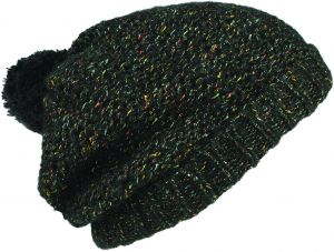 00fd6b38e88 Seirus Innovation Midnight Slouchy Beanie with Pom Pom Knit Hat For Cold  Weather Protection
