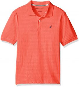 318aef80a Nautica Boys  Short Sleeve Tonal Stripe Deck Polo Shirt