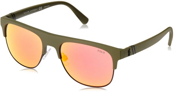 08c169bb9a1e Polo Ralph Lauren Men s Plastic Man Non-Polarized Iridium Square Sunglasses