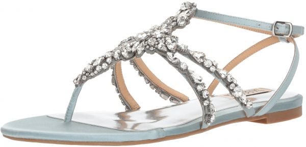 7397fd2e85674f Badgley Mischka Women s Hampden Flat Sandal
