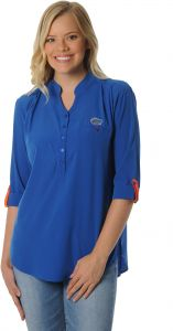 9bfdd57ca UG Apparel NCAA Florida Gators Women's Plus Size Button Down Tunic Top, 3X,  Royal Blue/Orange