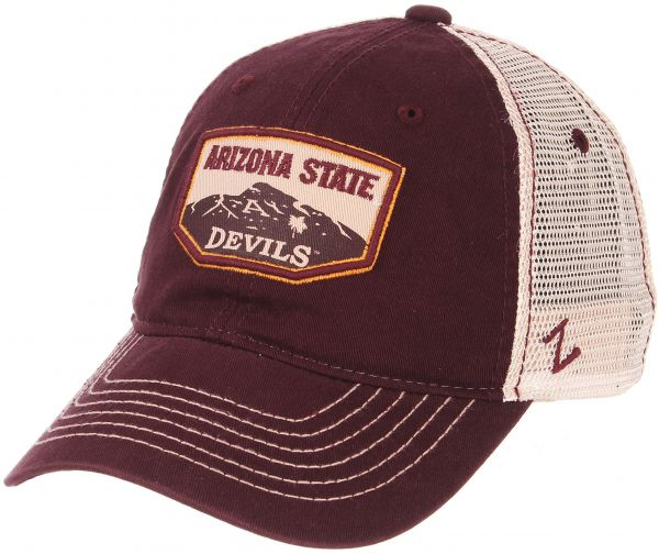 more photos 620c1 b0e26 Zephyr NCAA Arizona State Sun Devils Men s Trademark Relaxed Cap, Adjustable,  Washed Team White   Souq - UAE