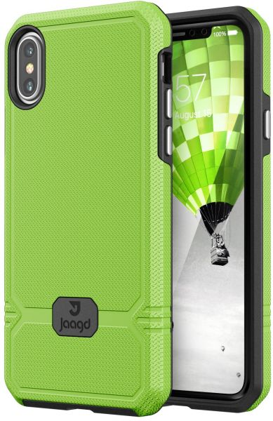 Jaagd iPhone X Case, Slim Shock-absorbing Modern Slim Non-slip Grip Cell  Phone Cases for Apple iPhone X (Lime)