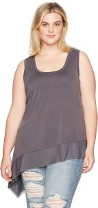 6cdbb116c67d Rebel Wilson X Angels Women s Plus Size Jersey Tank with Mesh Detail