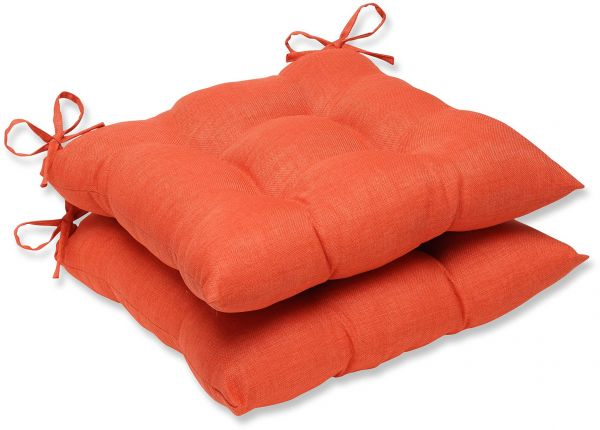 Pillow Perfect Outdoor Indoor Rave Coral Wrought Iron Seat Cushion