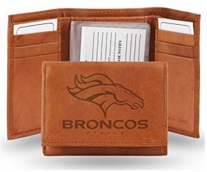 Rico NFL Denver Broncos Embossed Leather Trifold Wallet 9e451852f