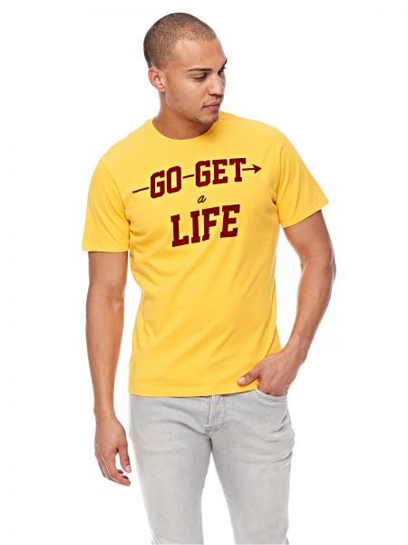 137f20846dbddb French Kick T-Shirt for Men - Yellow