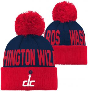 1f5e3f0b8 Outerstuff NBA Washington Wizards Children Boys Cuffed Knit with Pom Hat