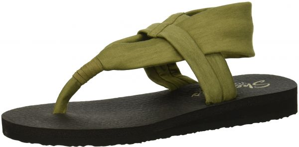 buy popular e9fc0 01a12 Skechers Cali Women s Meditation-Studio Kicks Flat Sandal,Olive,9 M US    Souq - UAE
