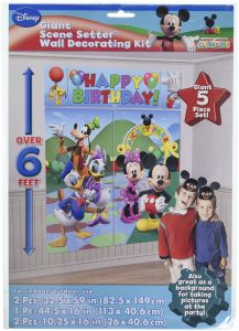 6fb182fb05b Amscan Disney Mickey Mouse Birthday Party Scene Setters Wall Decorating  Kit