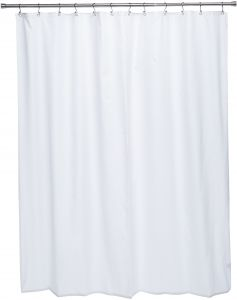 Ex Cell Pierce Fabric Microfiber Shower Curtain Liner 70 By 72 Inch White
