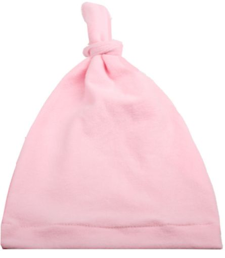 5840983ee18 Super Soft Knotted Caps Baby Beanie Hats Pink