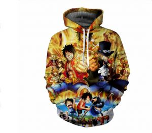7a539a56f48d ONE PIECE anime printing fashion cotton hoodie round collar full sleeves  casual sweatshirt sport hoodie