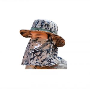 2609d54e880 Camouflage Outdoor Sport Hiking Visor Hat UV Protection Face Neck Cover  fishing Sun Protect Cap Best Quality