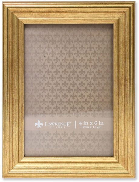 Lawrence Frames Sutter Burnished Picture Frame 4 By 6 Inch Gold