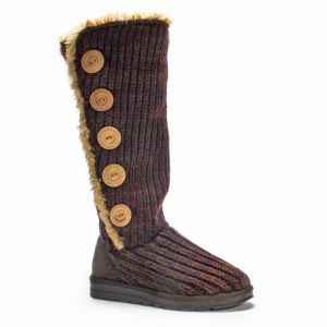 fdbd60f1c560 MUK LUKS Women s Malena Red Marl Button up Winter Boot