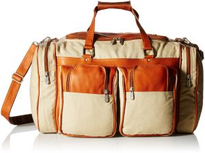 Piel Leather 20In Duffel Bag with Pockets b1bb6c2c2443f