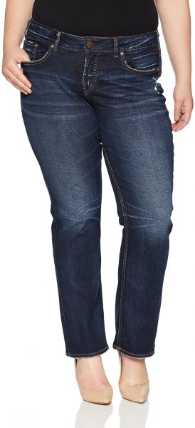 c51cdcf53af Silver Jeans Women s Plus Size Co Elyse Relaxed Fit Mid Rise Slim ...