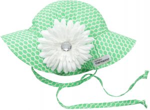 Flap Happy Girls  UPF 50+ Floppy Hat with Flower 865353294db9