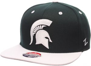 best cheap c4f3f c5de7 Zephyr NCAA Michigan State Spartans Men s Z11 Snapback Hat, Adjustable  Size, Team Color