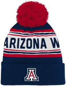various colors fa830 77023 Outerstuff NCAA Arizona Wildcats Kids   Youth Boys Jacquard Cuffed Knit Hat  w Pom, Dark Navy, Youth One Size