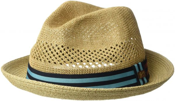 9af5f613 Bailey of Hollywood Men's Berle Fedora Trilby Hat with Striped Band,  Natural, L   Souq - UAE