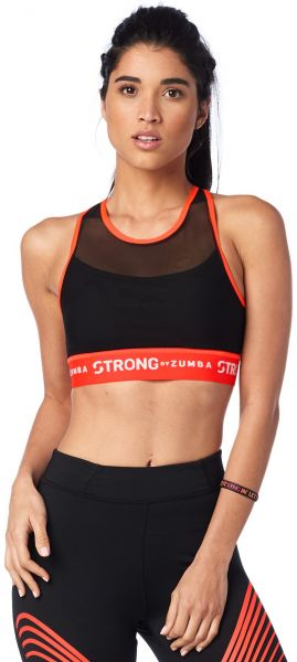 6d99b37a64 Zumba Women s Crossback Sports Bra with High Impact Support