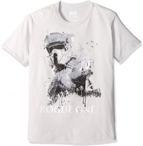 1a88608b4 Star Wars Men's Rogue One Dripping Trooper 1 Sg T-Shirt, Silver, XX-Large