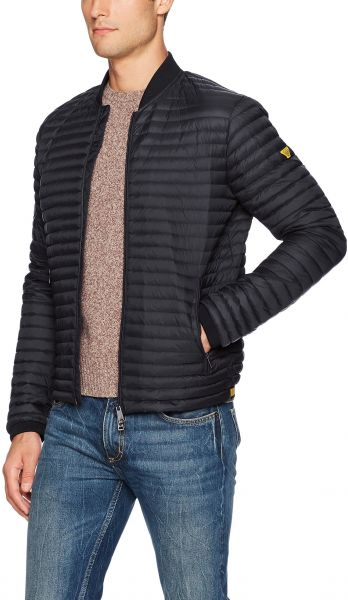 4fa40335afc8 ARMANI JEANS Men s Plus Size Narrow Quilted Nylon Full Zip Down Jacket