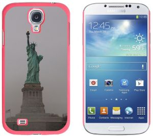 Graphics and More Statue of Liberty New York City Pattern Snap-On Hard Protective Case for Samsung Galaxy S4 - Non-Retail Packaging - Pink