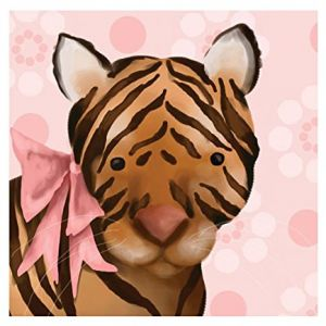 Oopsy Daisy Ava The Tigress Canvas Reproduction, 10 x 10""