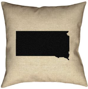 ArtVerse Katelyn Smith 26 x 26 Faux Suede Double Sided Print with Concealed Zipper /& Insert Washington Love Pillow