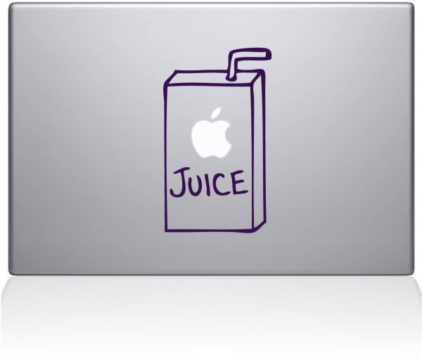 "The Decal Guru 1008-MAC-15P-LAV Apple Juice Vinyl Sticker, 15"" MacBook Pro ‫(2015 & Older), Purple"