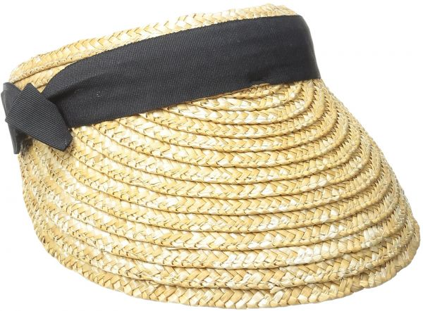 San Diego Hat Company Women s 4-inch Brim Wheat Straw Visor with Pop Color 2ba9571b7194