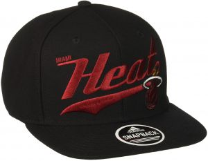 2a2be686c3f84 NBA Miami Heat Men s Tail Sweep Flat Brim Snapback Hat