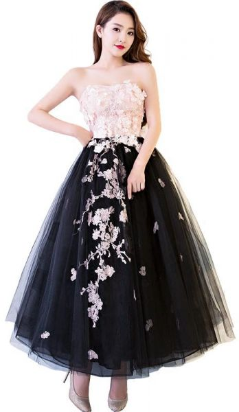 Ssyfashion Special Occasion Ball Gown For Girl Strapless Lace