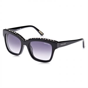 42fa90a75ff Guess by Marciano Women s SG-shiny black  grad smoke- Plastic- F Sunglasses  - GM074801B54