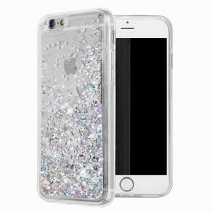 iphone 6 Case, iphone 6S Case, WORLDMOM Double layer Design Bling Flowing Liquid Floating Sparkle colorful Glitter Waterfall TPU Protective Phone Case for ...