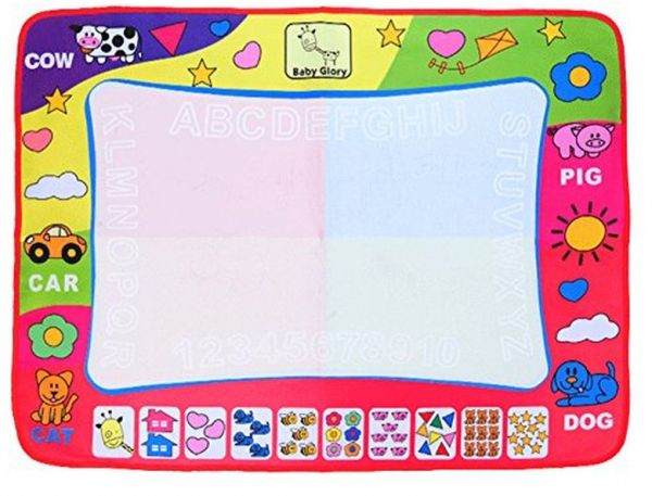 Aqua Doodle Mat, Large Magic Water Drawing Painting Writing Mat Pad Board, 2 Pen Develop Intelligence Sketch Learning Toy Gift for Boys Girls Toddlers Kids Children 4 Color 31. 5 X 23. 6 Inches