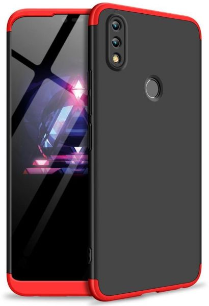 360 Degree protection Case Cover for Huawei Honor 8X- Black & Red