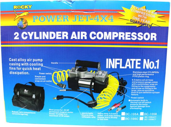 Heavy Duty 12V 30mm Double Cylinder Air Compressor