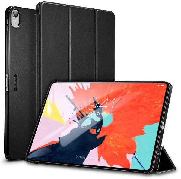 Apple iPad Pro 11 2018 ESR Yippee Color Series PU Leather Slim-Fit Lightweight Trifold Stand Smart Case Cover - Black
