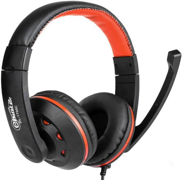 STEREO GAMING HEADSET WITH MIC FOR PS4 / AUX JACK 3 5MM, VOLUME UP/DOWN,  FOR PC,MAC,XBOX ONE,TABLE,PLAYSTATION 4, PHONE 3 5mm JACK DL-1700 C