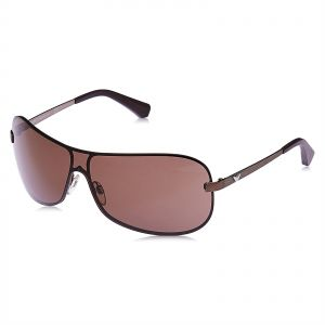 f8ca4c78d5d Emporio Armani Wrap Around Unisex Sunglasses - Brown Lens
